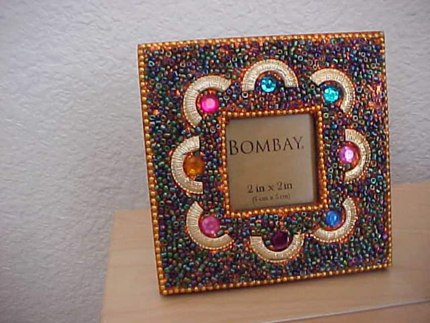 Bombay Collection Set 3 Beaded Mini Photo Frames - Apartment Therapy ...