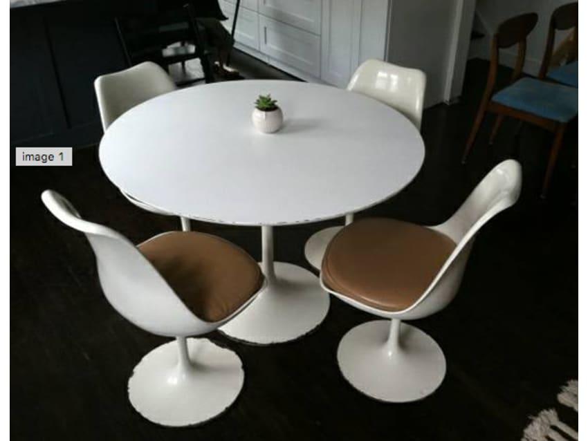 Saarinen Tulip Table And Tulip Chairs Knoll Apartment Therapy - Knoll tulip table and chairs