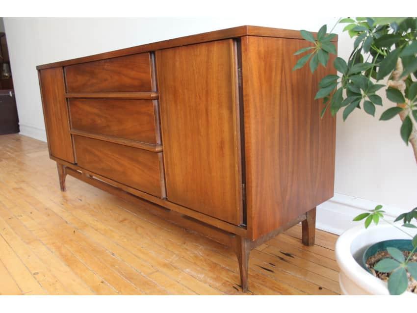 Modern Dark Wood Credenza : Mid century modern dark walnut credenza apartment therapy