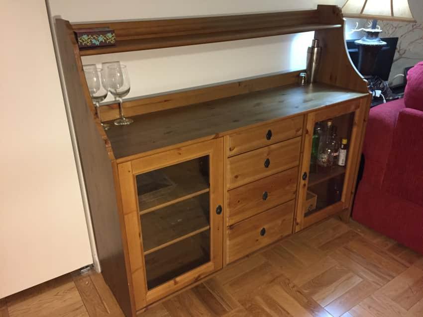 Credenza Ikea Serie Leksvik : Ikea leksvik pine sideboard buffet cabinet apartment therapy