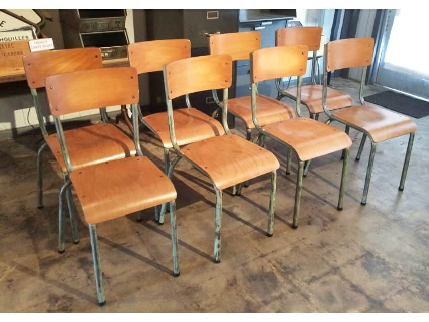 French Industrial Vintage Factory Chairs
