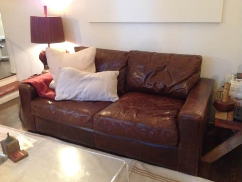 Incroyable Restoration Hardware Maxwell Leather Sofa Coach