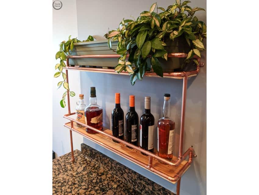 Delicieux Copper Kitchen Wine Rack Shelves