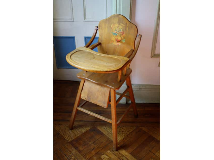 Antique Child's Wooden High Chair with Tray - Antique Child's Wooden High Chair With Tray - Apartment Therapy
