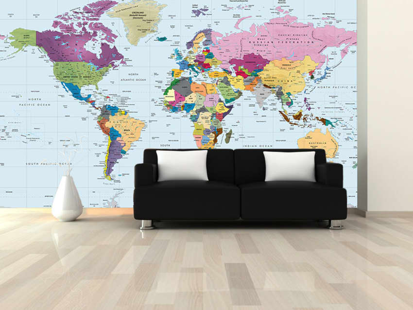 World map wall mural 107 x 72 peel stick apartment therapy apartment therapy marketplace gumiabroncs Images