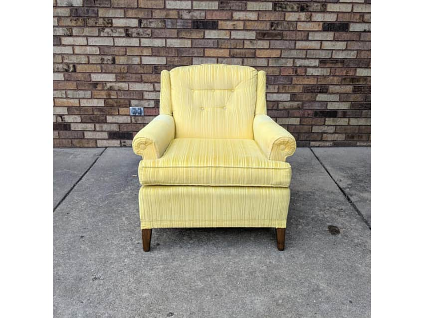 2 Sunshine Yellow Ethan Allen Club Chairs