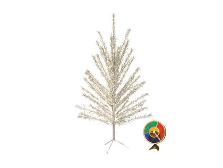 6 Foot Aluminum Tree With Color Wheel Light Apartment Therapy