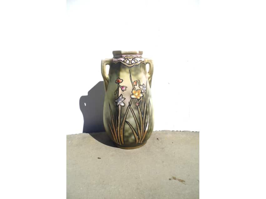 Antique Nippon Vase Hand Painted Nippon Vase Apartment