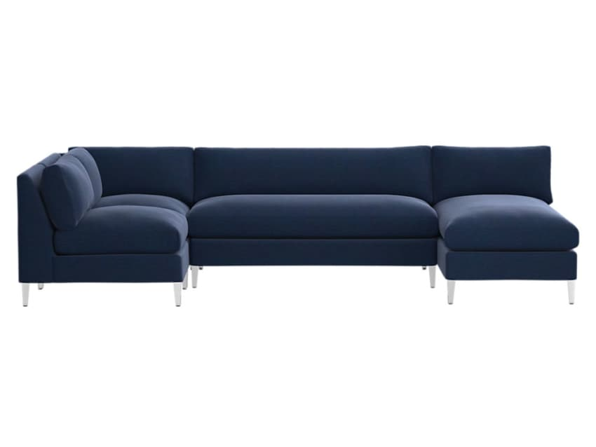 Super Gorgeous Cb2 Blue Velvet Sectional Sofa Pabps2019 Chair Design Images Pabps2019Com