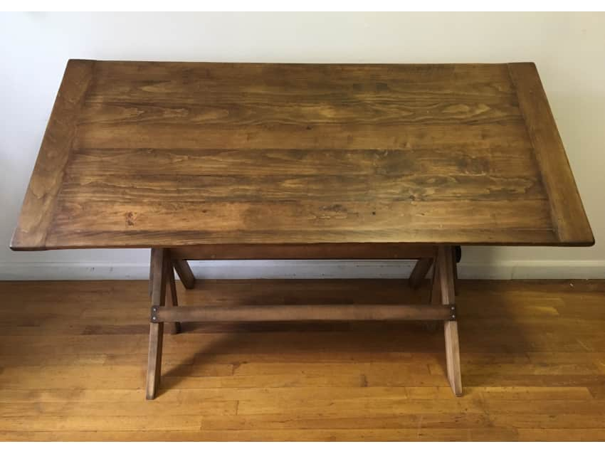 Apartment Therapy Marketplace - Vintage Dining Table/ Antique Drafting Table/ Desk - Apartment