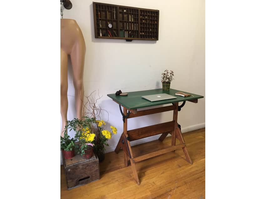 Apartment Therapy Marketplace - Vintage Drafting Table/ Antique Work Table/ Desk - Apartment Therapy