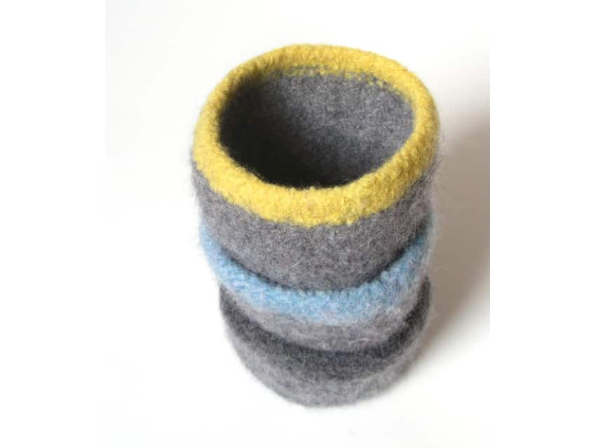 Felted Bowl Pattern Knit Five Nesting Bowls Apartment Therapy