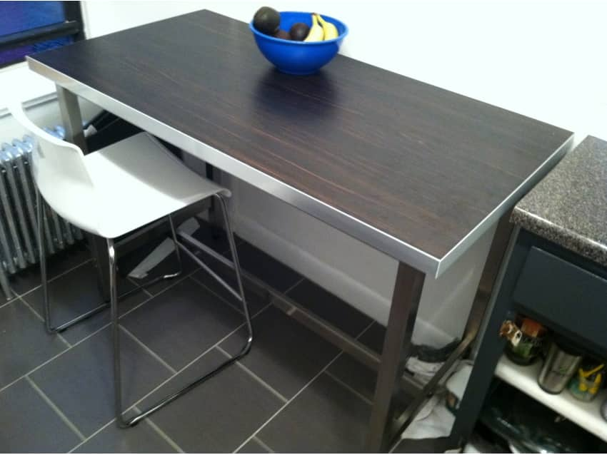Ikea utby bar table brown black stainless steel apartment apartment therapy marketplace watchthetrailerfo
