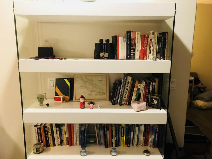 JM Furniture CE Cloud Curio Cabinet Bookshelf