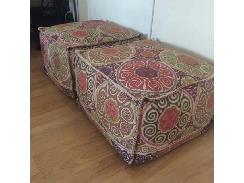 Crate And Barrel Moroccan Marrakesh Pouf Apartment