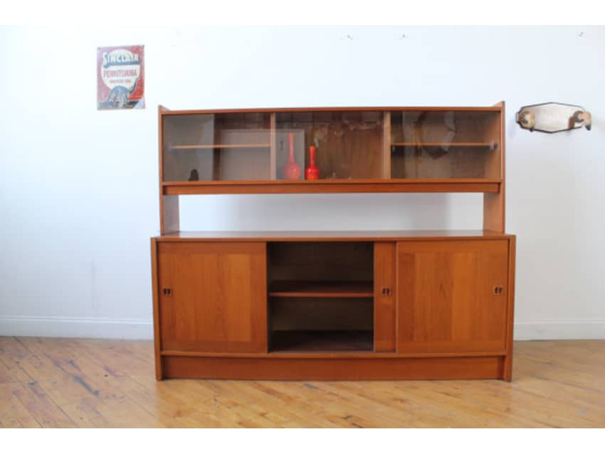 Danish Floating Credenza : Danish teak credenza with floating hutch apartment therapy