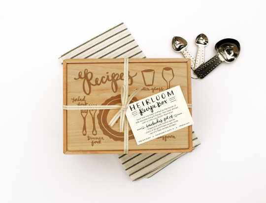 Place Setting Heirloom Recipe Box by Little Low