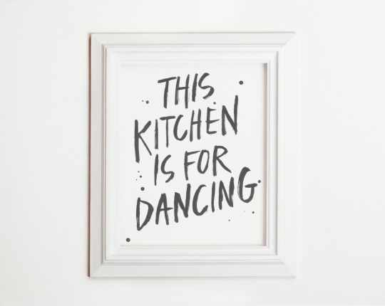 This Kitchen Is For Dancing - 8x10 art print from Ike Studio