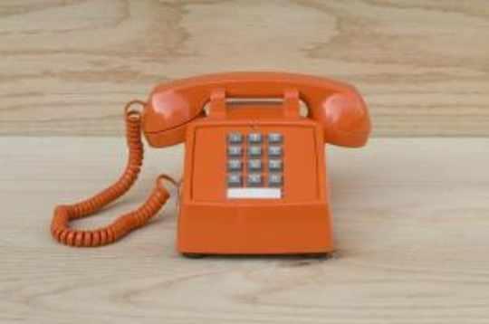 Vintage Phone, Orange