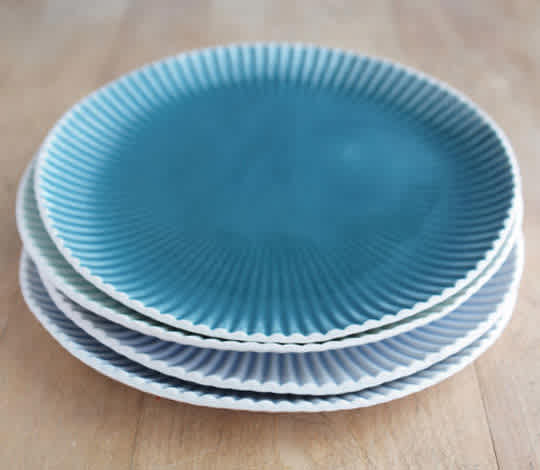Teal Lunch Plate from Villarreal Ceramics