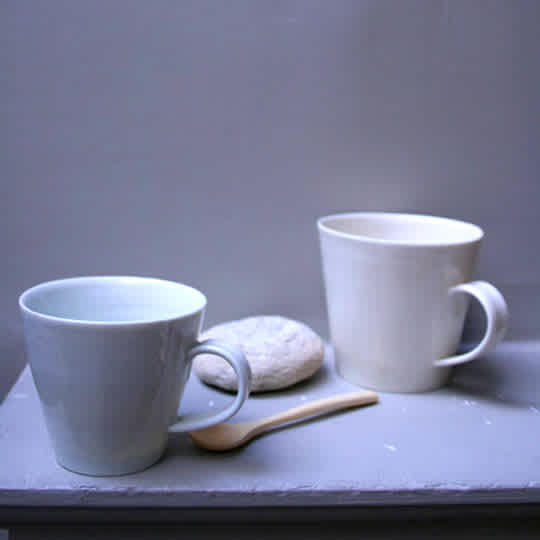 Porcelain Mugs by Daniel Smith