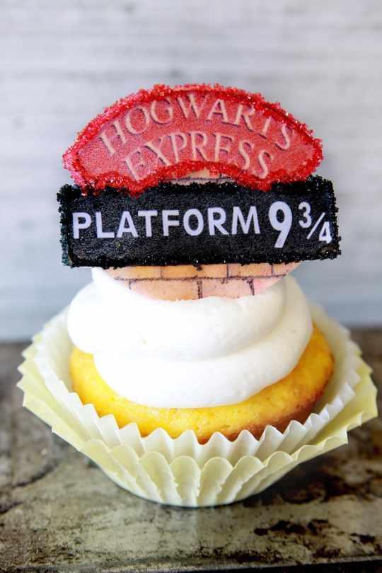 Edible Hogwarts Express Platform 9 3/4 Cupcake Toppers