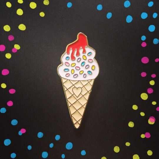 Ice Cream Enamel Pin from Pin Club