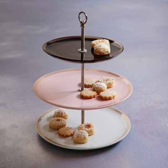 Fishs Eddy Gilded Petit Four Stand from west elm