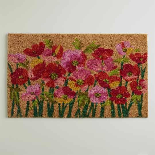 Pink Poppies Doormat