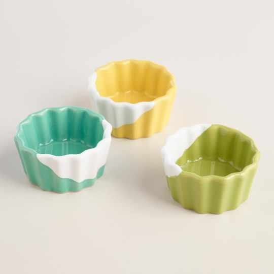 Dipped Ceramic Ramekins Set of 3