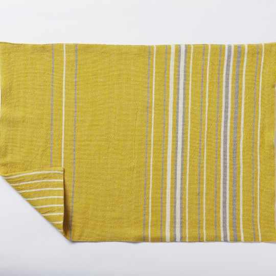 Coyuchi Agrarian Stripe Reversible Placemat