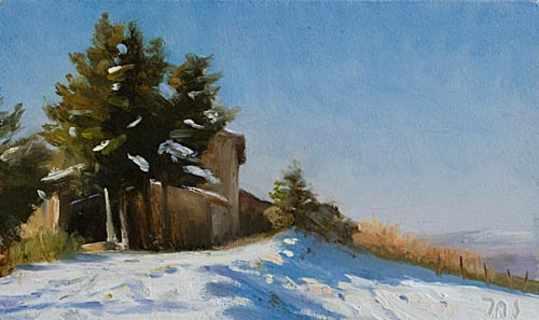 Snow at le Jacoumet