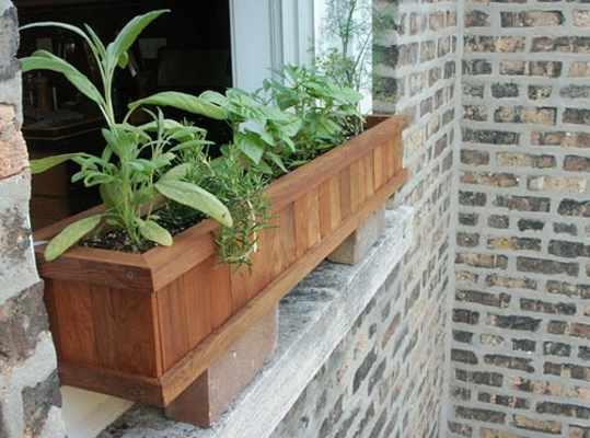 Redwood Window Box Planter