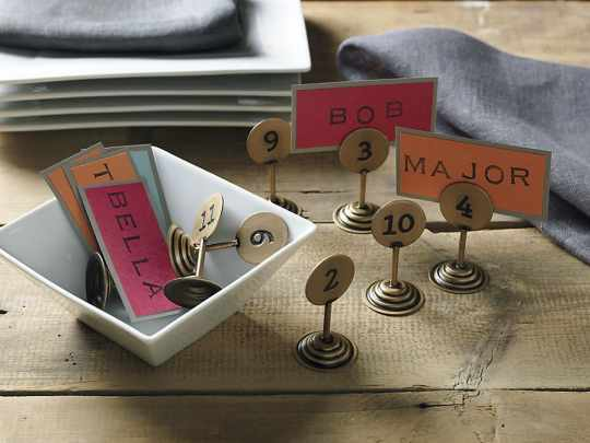 Set of 12 Table Numbers from CB2