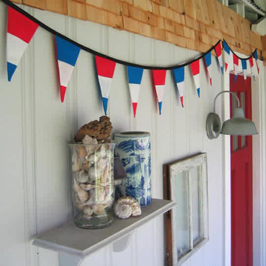 Americana Red, White and Blue Pennants by Pamwares