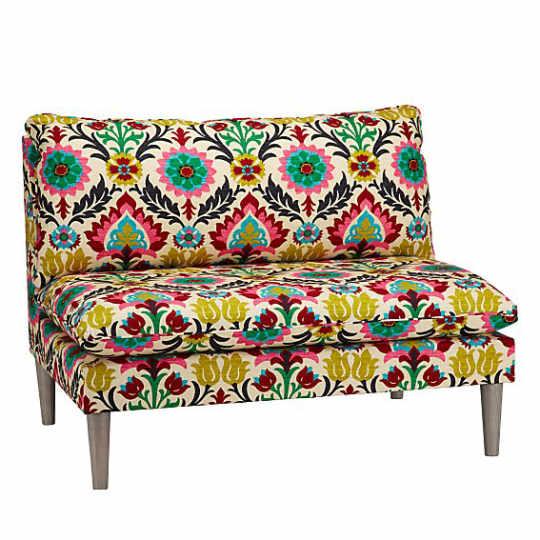 Upholstered Settee in Santa Maria Desert