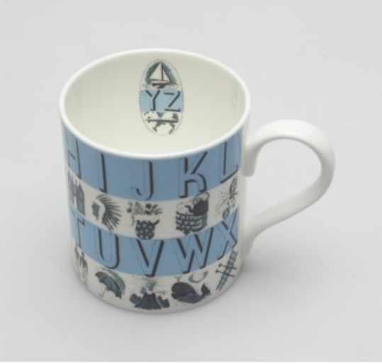 Eric Ravilious - Alphabet Blue Mug