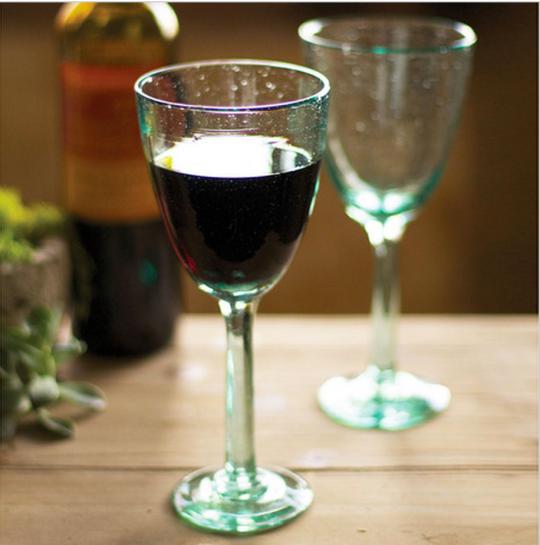 Seafoam Recycled Wine Glasses