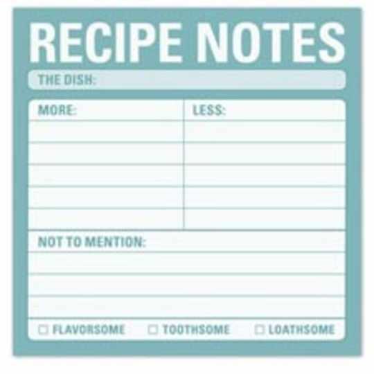 Recipe Sticky Notes from Knock Knock