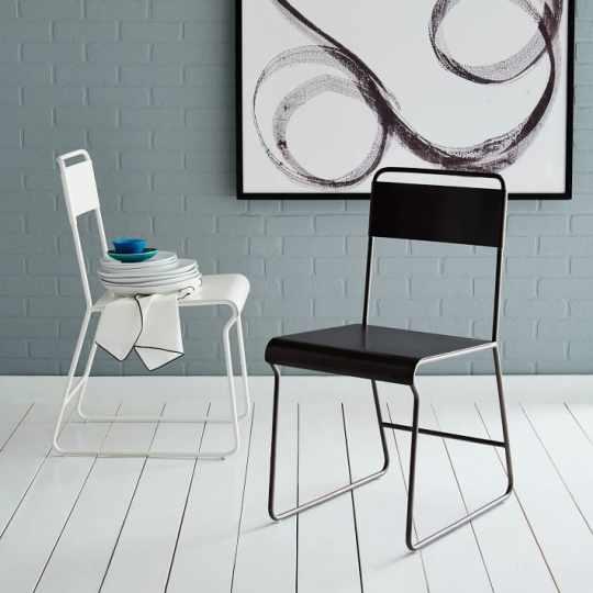 Bent Metal Dining Chair