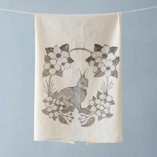 Bunny & Bloom Tea Towel