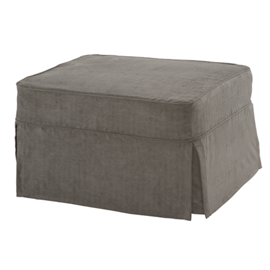 Ottoman with Zen Grey Slipcover