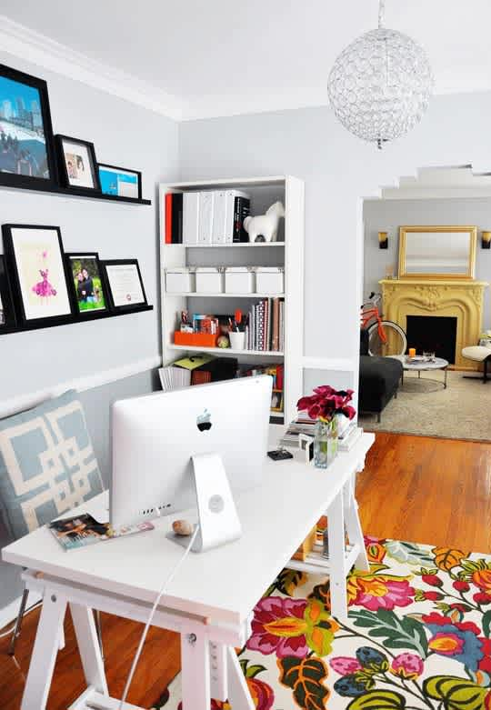 rebecca s loving living small home office apartment therapy