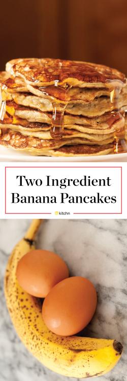 2 ingredient banana pancakes watch the video