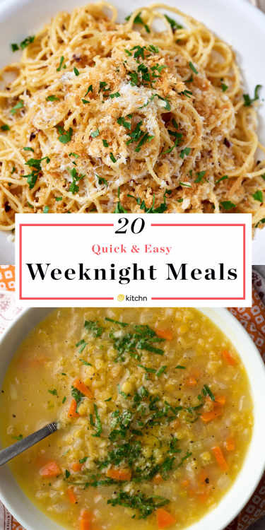 quick dinner ideas weeknight dinner recipes kitchn