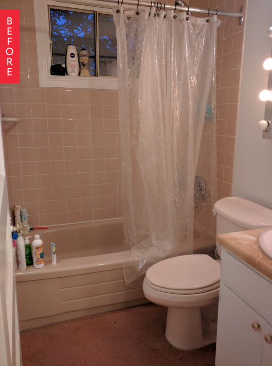 Before & After: A Not So Pretty in Pink Bathroom Gets a Makeover ...
