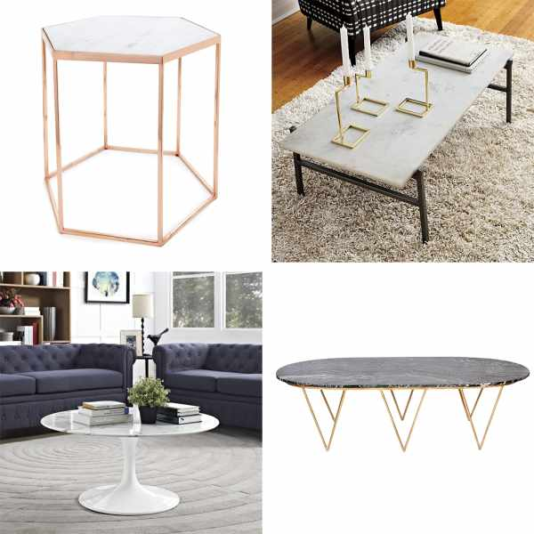 Marble Coffee Tables For Every Budget Apartment Therapy - Long marble coffee table