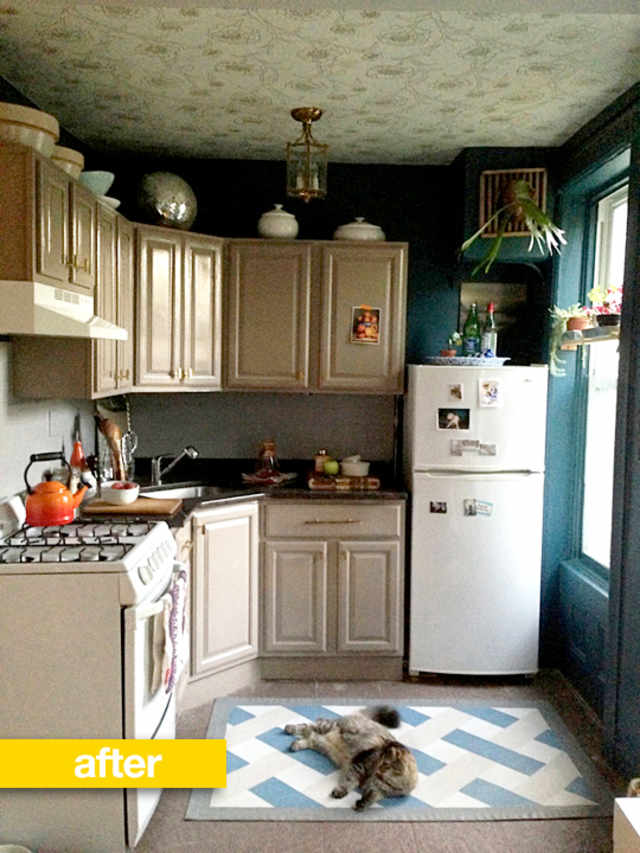 Rental Kitchen Before Amp After A New Color Scheme And A