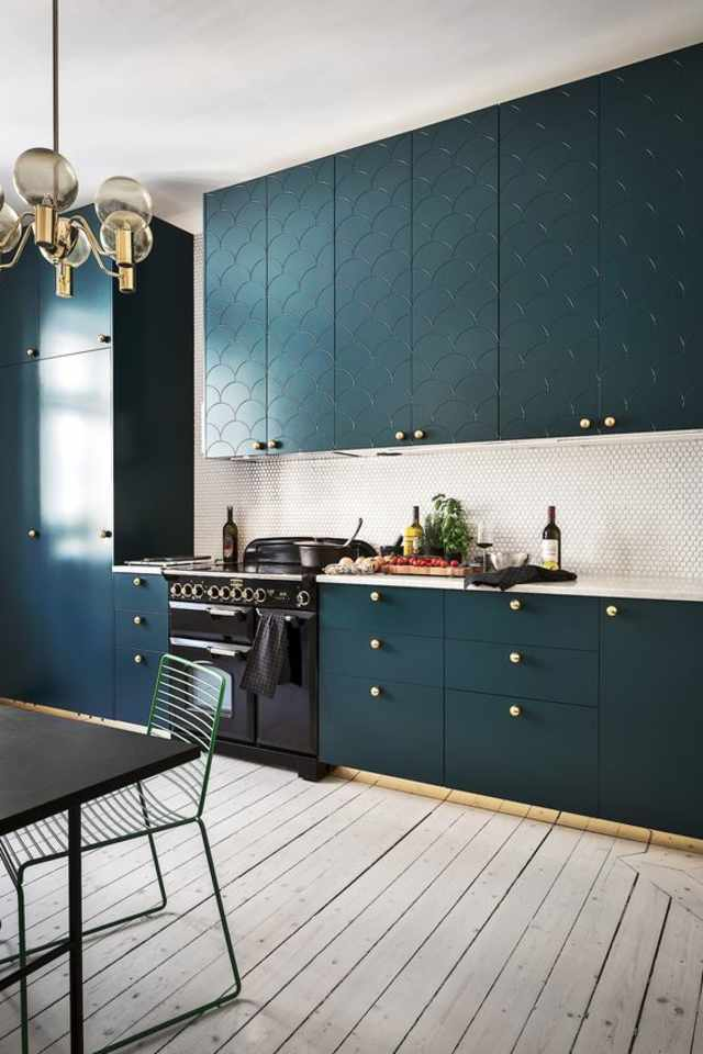 backsplash pictures for kitchens color ideas for the kitchen teal cabinets 4274