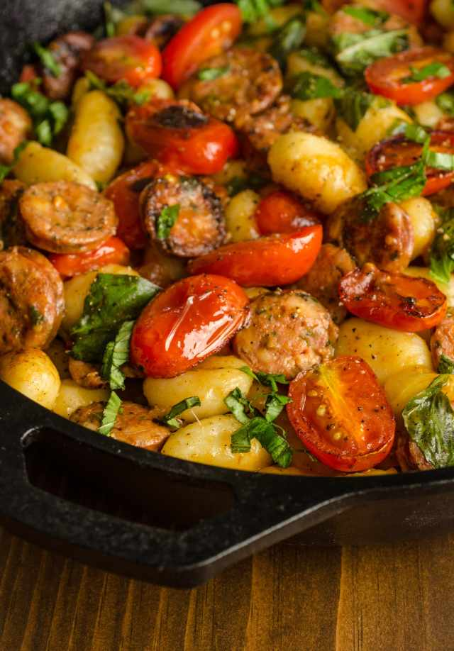 Recipe Gnocchi Skillet With Chicken Sausage Amp Tomatoes